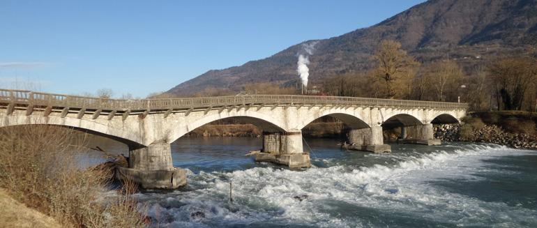 Le pont de La Buissière - Vue de l'ouvrage existant