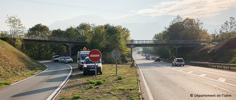 Démolition et reconstruction du pont de Champfeuillet - Situation actuelle