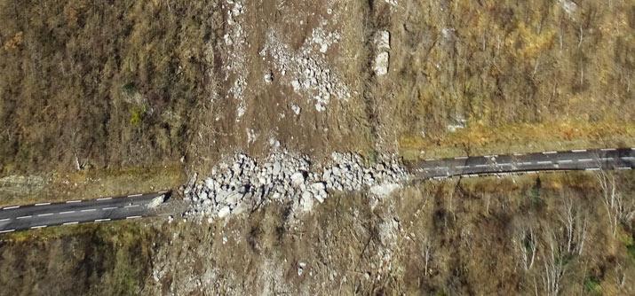 RD 531 - Gorges de la Bourne - zone éboulée
