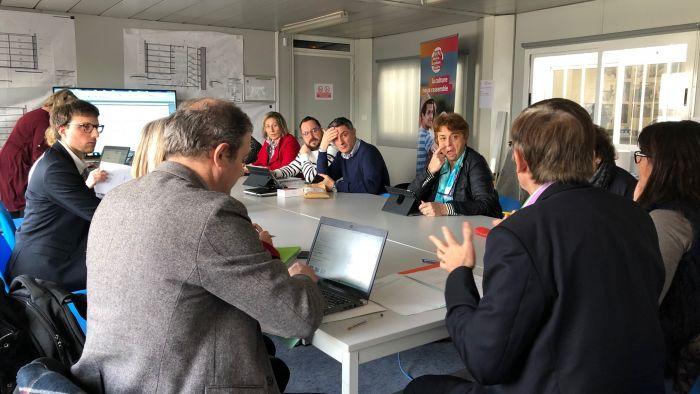 Réunion de la commission de la Culture sur le chantier des Archives départementales de l'Isère