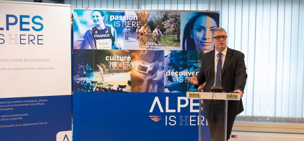 Présentation de Alpes Is(h)ere par le président Jean-Pierre Barbier