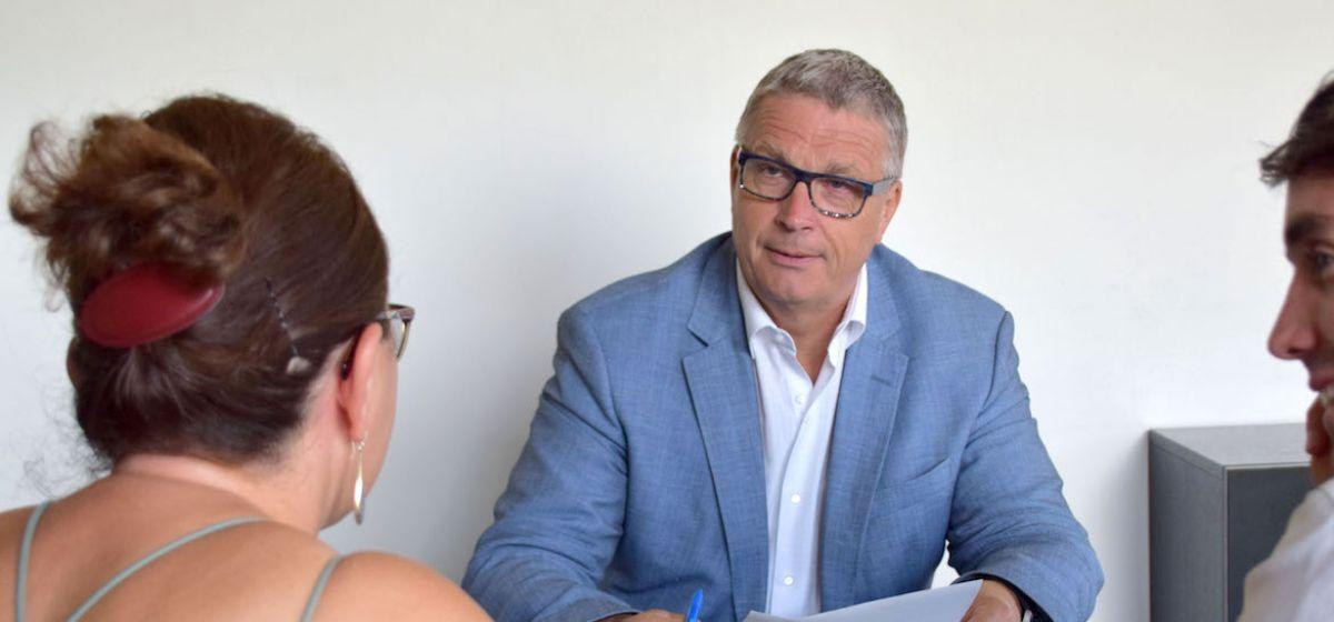 Jean-Pierre Barbier, président du Département de l'Isère, rencontre les isérois.