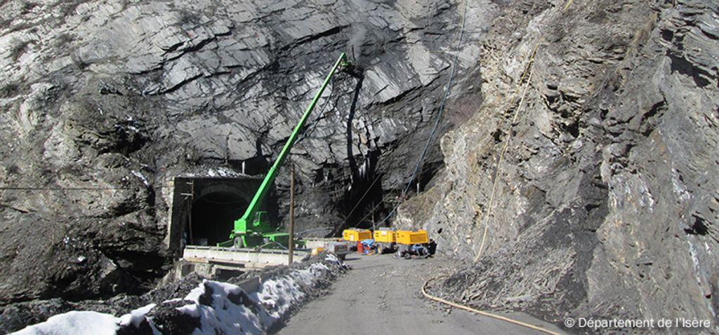 Travaux du tunnel du Chambon - actualité de novembre 2015
