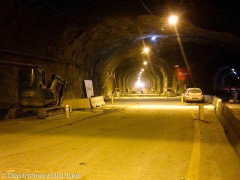Travaux du tunnel du Chambon - Semaine du 12 décembre