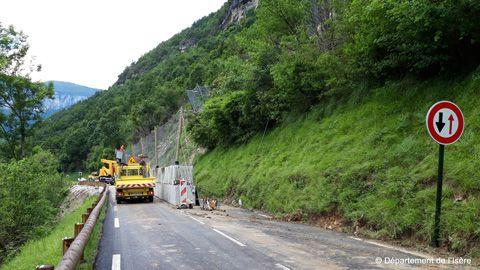 Gorges de La Bourne - Canyon des Ecouges - Report des travaux