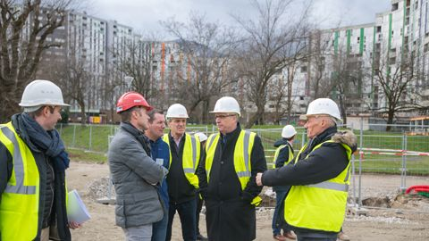 college Lucie Aubrac visite chantier