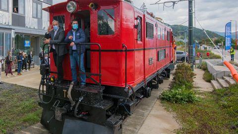 Petit train La Mure Locomotive dévoilement