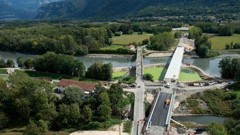 pont-st-quentin su rIsère -ouverture RD45