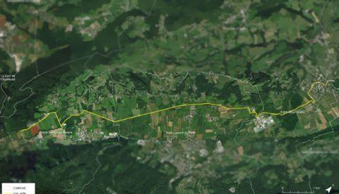 La Via chartreuse reliera à terme Saint-Joseph-de-Rivière, Saint-Laurent-du-Pont et Entre-Deux-Guiers