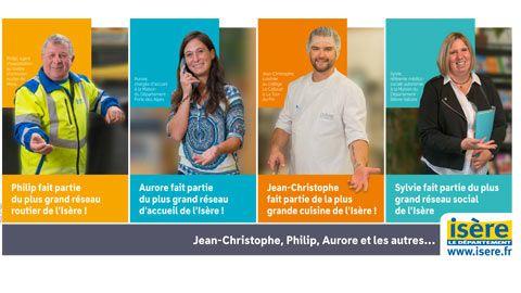 Campagne métiers du Département de l'Isère