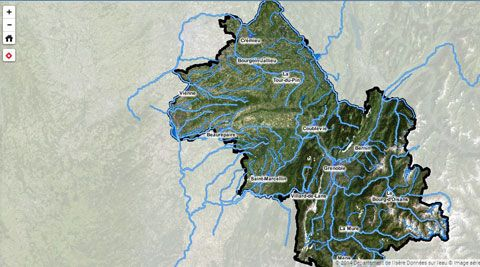 Carte interactive de l'eau en Isère (illustration)
