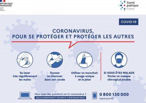 Coronavirus : gestes barrière