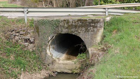 Pont du ruisseau le Canis à St Just Chaleyssin