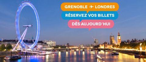 Vols pour Londres au départ de l'aéroport de Grenoble