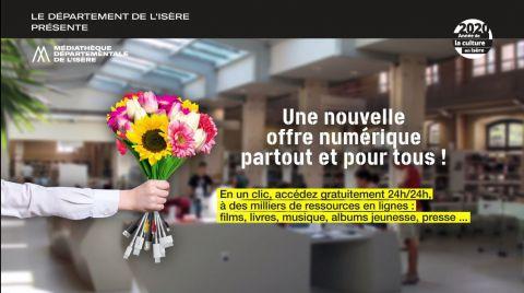 offre numérique de la médiathèque départementale de l'Isère