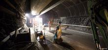 Travaux du tunnel du Chambon - Zone de matériels