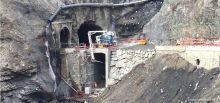 Tunnel du Chambon - Travaux de bétonnage