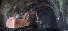 Travaux du tunnel du Chambon - Evacuation des matériaux