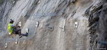 Travaux du tunnel du Chambon - Travaux de sécurisation de la paroi