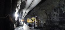 Travaux du tunnel du Chambon