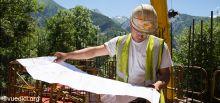 Travaux du tunnel du Chambon - Construction du réservoir incendie