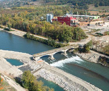 Pont de la Buissière - Vue aérienne des travaux Octobre 2018